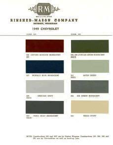 1939 1940 pontiac paint colors chip page