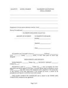 equipment hire form template equipment rental agreement hashdoc