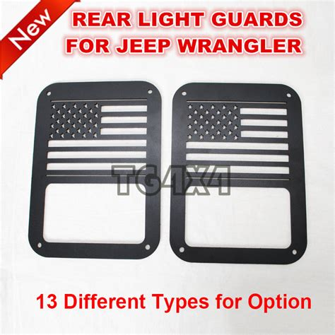 tail light cover cost black red steel tail light guards covers for jeep wrangler