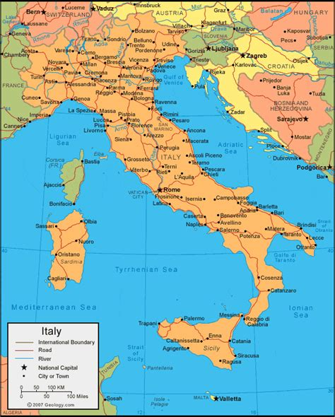 map of and italy italy map and satellite image