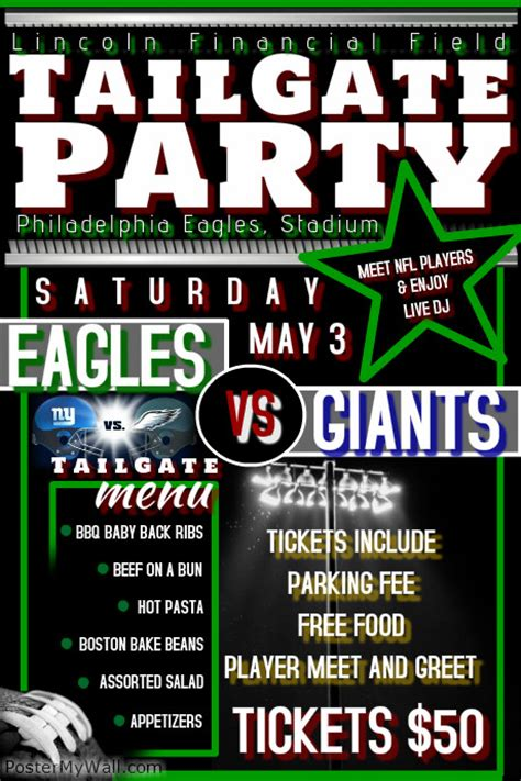 Tailgate Party Flyer Postermywall Tailgate Template