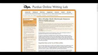 Citing in mla format with purdue owl youtube