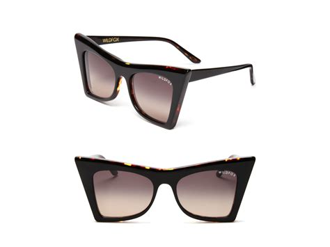 wildfox sharp cat eye sunglasses in black lyst