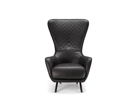 high back leather armchair high back leather armchair sin seaty by arketipo design