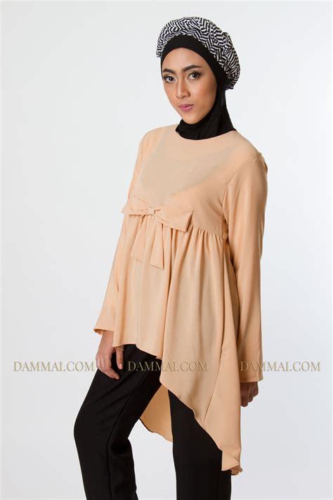 Ribbon Blouse Atasan soft pastel ribbon blouse dammai