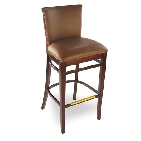 bar stool upholstery arrowback fully upholstered wood bar stool the chair market