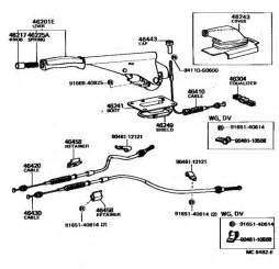 Toyota Corolla Brake System Diagram Parking Brake Cable For Toyota Corolla Ke70 1982 1983
