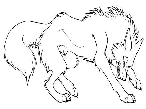 imagenes para colorear lobo lobos dibujos animados infantiles para colorear