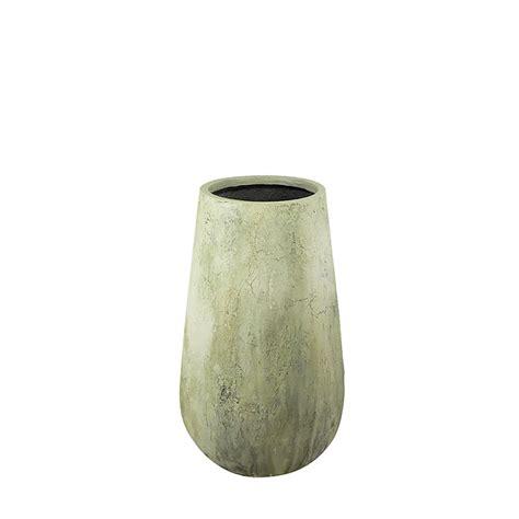 28 in antique fiberglass outdoor drop vase by le present