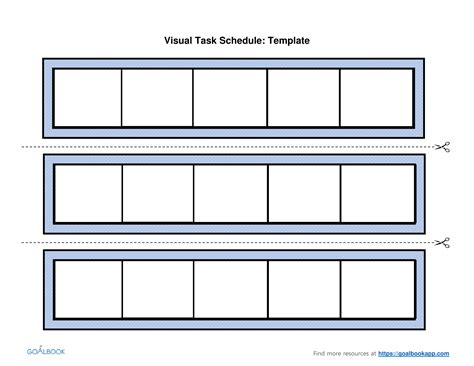 visual schedule template free visual task schedule udl strategies