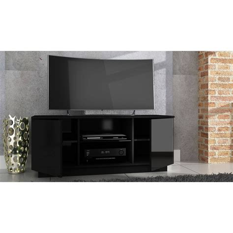 modern tv bench best 15 of black high gloss corner tv unit