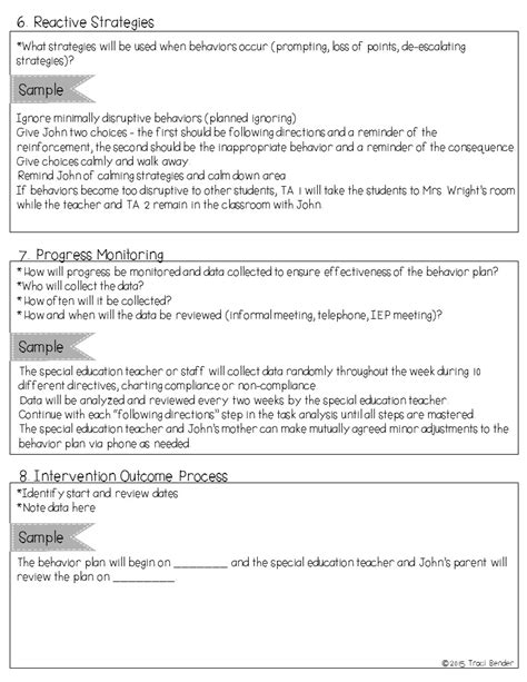 The Bender Bunch Creating A Behavior Intervention Plan Bip Behavior Intervention Plan Template