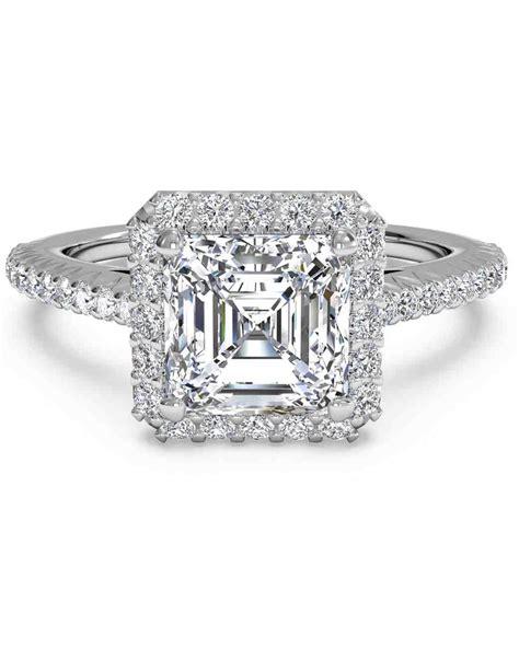 Asscher Cut Engagement Rings by Asscher Cut Engagement Rings Martha Stewart Weddings
