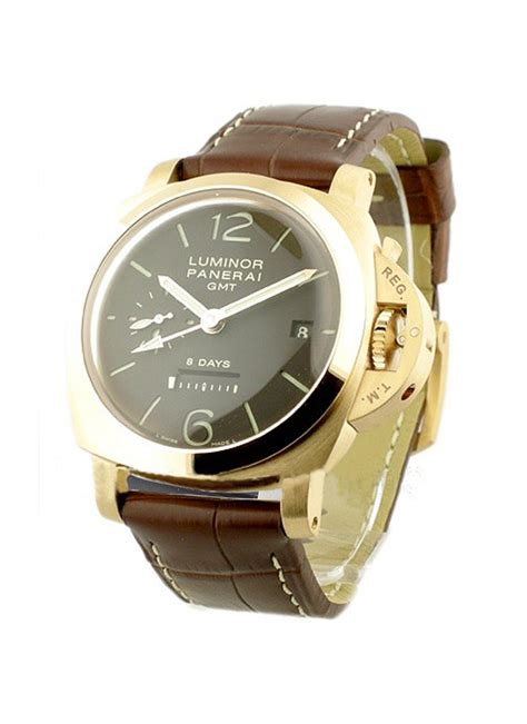 Panerai Power Reserve Silver Brown Leather Automatic pam 00289 panerai 1950 gmt power reserve essential watches