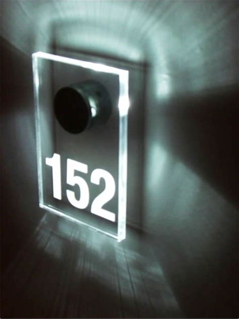 room number in led room number portas hotel room signage and numbers