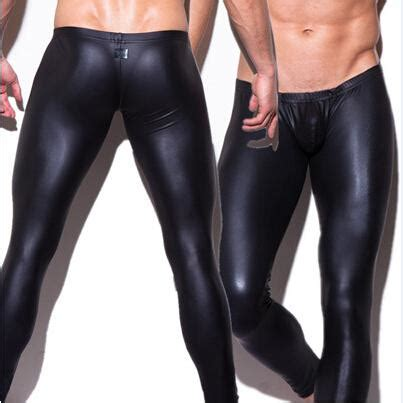 N2n Leather Boxer Ns010c cheap wholesale mens n2n brand tight fashion black faux leather boxer