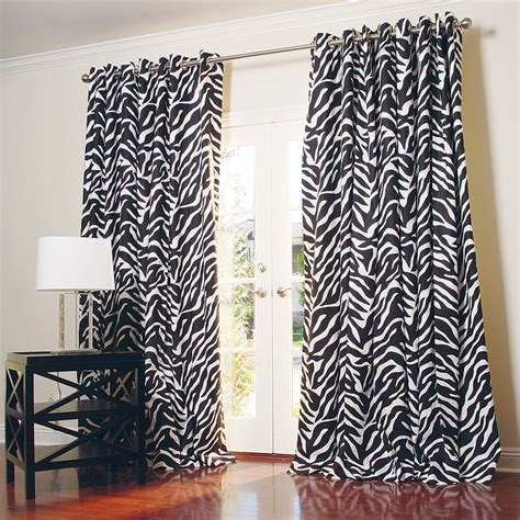 zebra curtain zebra print curtains home design elements