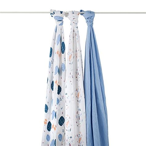 into the woods organic crib sheet aden anais buy aden anais 174 organic 3 pack muslin swaddles in into