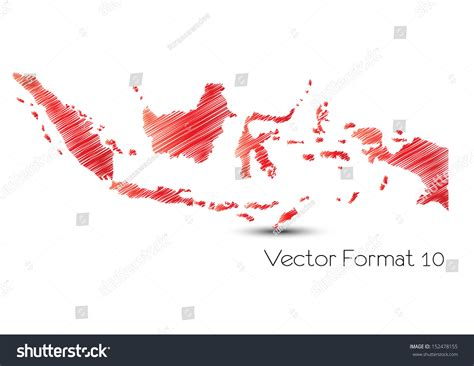 sketchbook indonesia sketch indonesia map stock vector 152478155