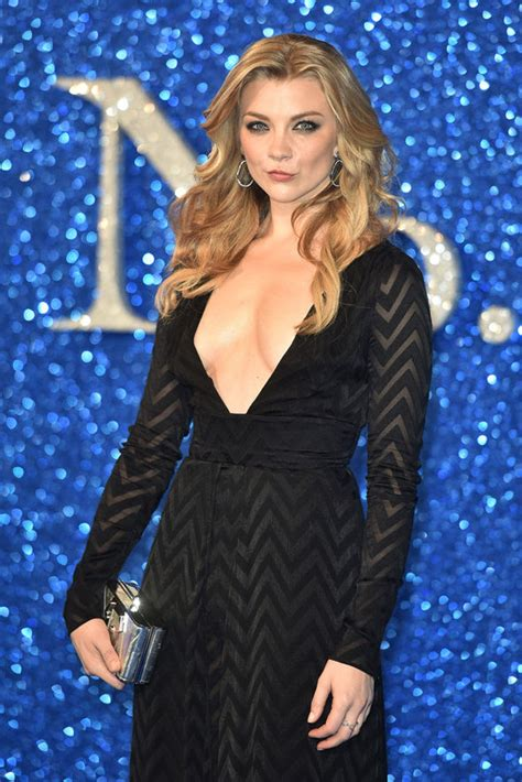 natalie dormer dress of thrones natalie dormer flaunts cleavage in