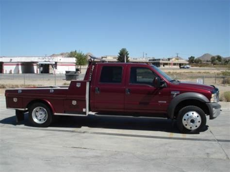 western hauler bed for sale sell used 2005 ford f 550 lariat crew cab 4x4 diesel