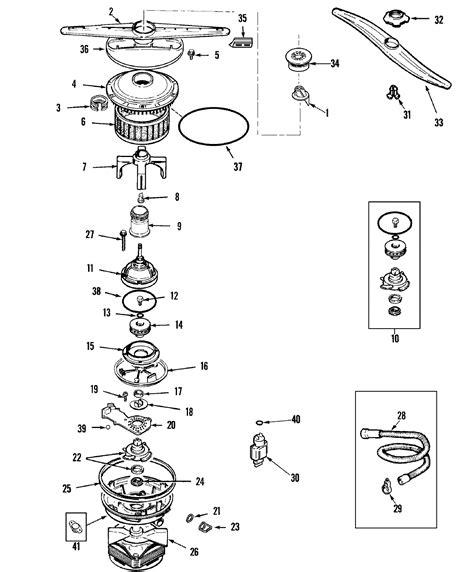 maytag dishwasher parts diagram motor diagram parts list for model mdb7100aww