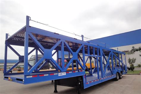 Car Title Types by 2 Axles Skeleton Type Car Carrier Semi Trailer