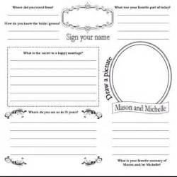 birthday guest book template diy guest book pages wedding