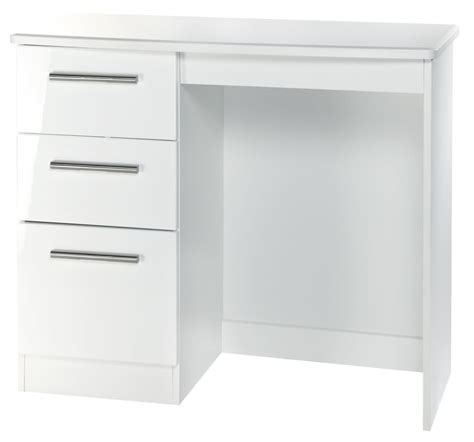 Small Oak Desk Knightsbridge White Dressing Table Vanity Knee Hole