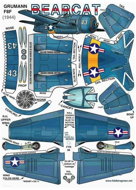 Papercraft Planes - 21 best images about papercrafts on f4u