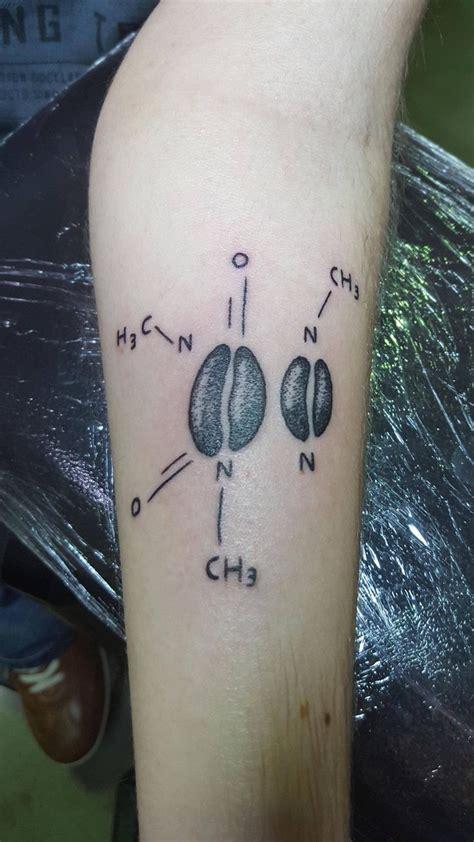 caffeine molecule by pol noir charbon mons belgium done