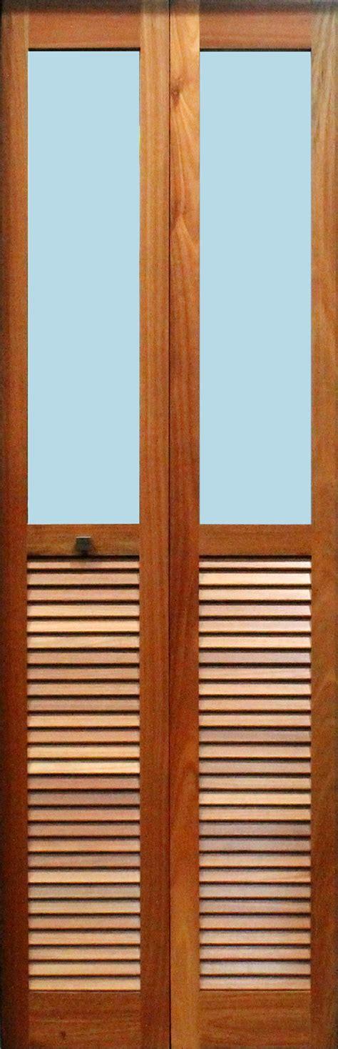 Louvered Glass Doors Bi Fold Doors Horizontal And Glass Opening