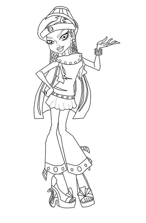 monster high coloring pages astranova coloriage monster high tenue de plage
