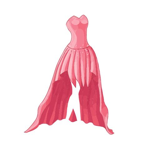 dress design vector cartoon evening dress fashion vector illustration 08