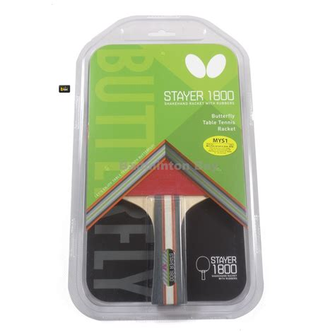 Bed Ping Pong Butterfly Stayer 1800 Original butterfly stayer 1800 shakehand fl table tennis racket with rubber