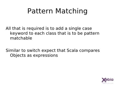 scala pattern matching expression getting started with scala
