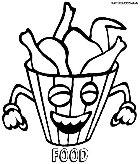 Coloring Pages Of Food With Faces