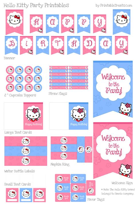 hello kitty printable party decorations free hello kitty party ideas rebecca autry creations