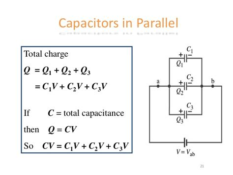charge on capacitors in parallel capacitor