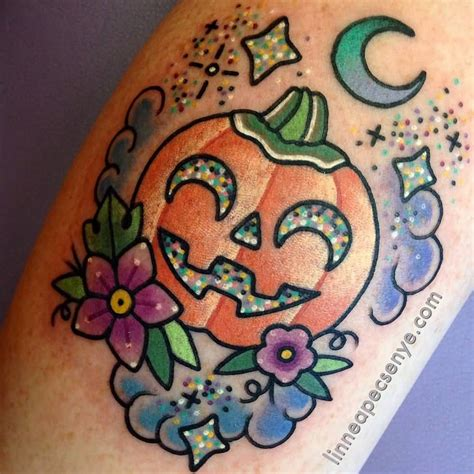 kawaii tattoo 25 pumpkin tattoos