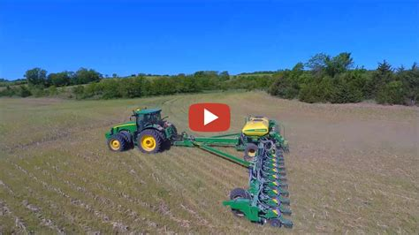 24 Row Deere Planter by Darrin Deere 24 Row Planter Planting Soybeans In