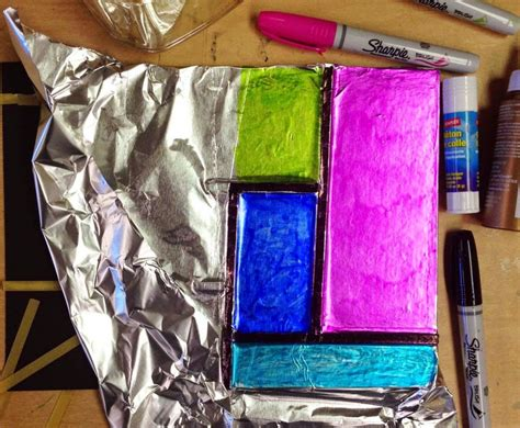 craft projects with mondrian foil projects for