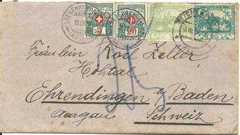 Porto Schweiz Brief 20 G tschechoslowakei 1919 2 20 h auf brief v reichenberg m
