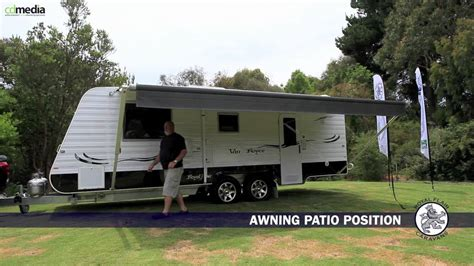 caravan retractable awnings setting up a caravan roll out awning top tourist parks
