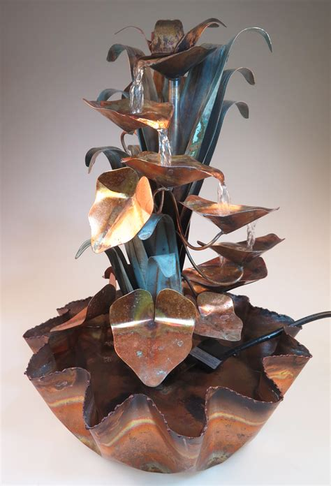 Handmade Fountains - handmade copper fountains in tucson arizona by roberto
