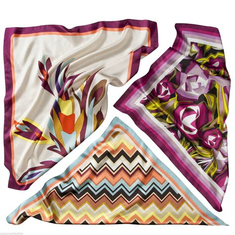 What Does Target Look For In A Background Check New Authentic Missoni Target 100 Silk Scarf Colore Passione Floral Chevron
