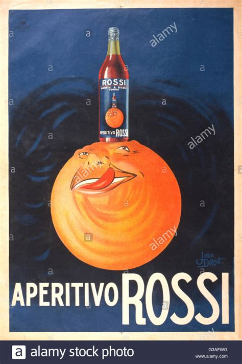 rossi poster aperitivo rossi poster showing a bottle of