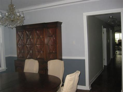 Gray Dining Room With Chair Rail It S The Season 4 Seasons Painting And