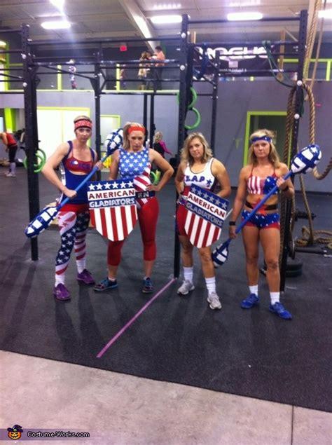 american gladiators group halloween costume photo
