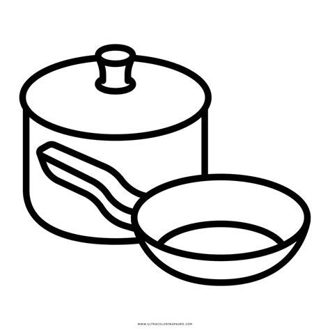 pintar cocina dibujo de utensilios de cocina para colorear ultra
